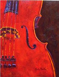 Art: Red Violin - available in my etsy store by Artist Ulrike 'Ricky' Martin