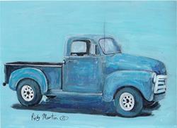 Art: Blue Truck by Artist Ulrike 'Ricky' Martin