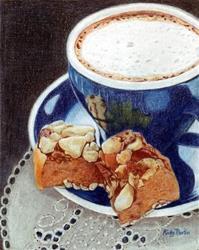 Art: Coffee Break by Artist Ulrike 'Ricky' Martin