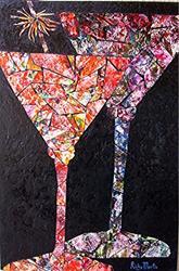 Art: Double Martini by Artist Ulrike 'Ricky' Martin