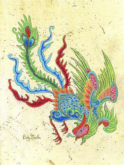 Art: Phoenix by Artist Ulrike 'Ricky' Martin