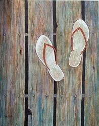 Art: The Old Boardwalk by Artist Ulrike 'Ricky' Martin