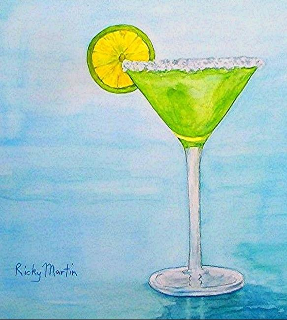 Art: Cocktail on Ice by Artist Ulrike 'Ricky' Martin