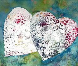 Art: Lacy Hearts by Artist Ulrike 'Ricky' Martin