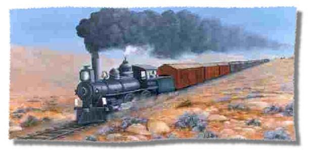 Art: Hunting Train by Artist Johnye Cruse