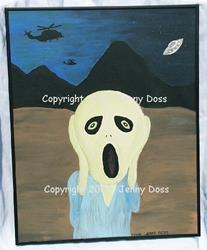 Art: Alien Scream by Artist Jenny Doss
