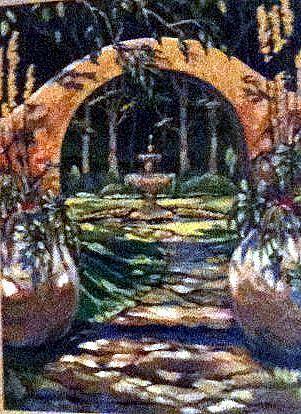 Art: GARDEN ARCHWAY by Artist Pamela Ann Lee