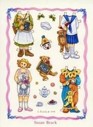 Art: PAPER DOLL Alice 1 by Artist Susan Brack