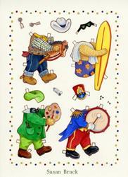 Art: PAPER DOLL BING 2 by Artist Susan Brack