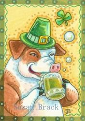 Art: ST. PADDY'S PIG by Artist Susan Brack