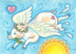 Art: WHEN PIGS FLY - Angel by Artist Susan Brack