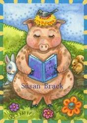 Art: READING A PIG CLASSIC by Artist Susan Brack