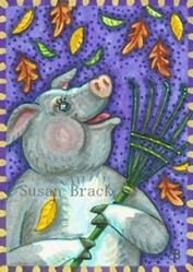 Art: A PIG'S WORK IS NEVER DONE by Artist Susan Brack