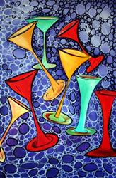Art: COCKTAIL PARTY  by Artist LUIZA VIZOLI