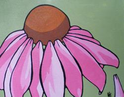 Art: Echinacea by Artist Kris Jean