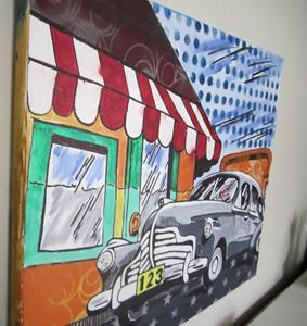 Detail Image for art Pop Graffiti Art Vintage Car