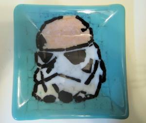 Detail Image for art Stormtrooper Star Wars Fused Art Glass Plate