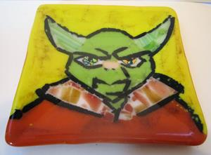 Detail Image for art Yoda Star Wars Glass Fused Plate