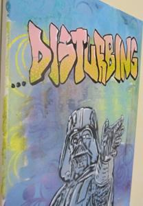 Detail Image for art Darth Vader Star Wars Original Pop Graffiti Art  12x16