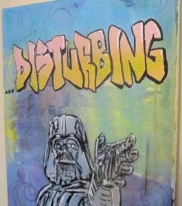 Detail Image for art Darth Vader Star Wars Original Pop Graffiti Art  12x16