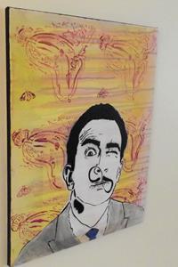 Detail Image for art Salvador Dali Melting Clock infinity Mustache