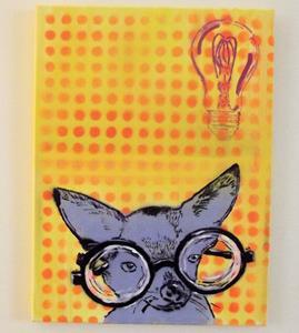 Detail Image for art EYE Chihuaha II Near Sighted, Dog Original Pop Art Graffiti Art