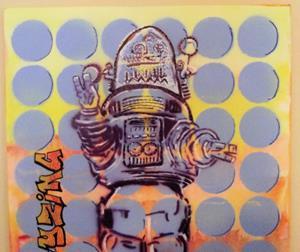 Detail Image for art Robbie the Robot Original Graffiti Pop Art 16