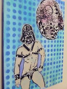 Detail Image for art Darth Vader Leather Jock
