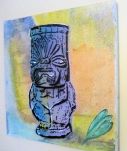 Detail Image for art Tiki Buddha Original Graffiti Pop Art