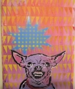 Detail Image for art Mad Chihuahua Dog Original Pop Graffiti Art