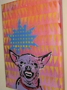 Detail Image for art Mad Chihuahua Dog Original Pop Graffiti Art