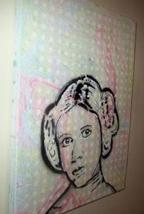 Detail Image for art Princess Leia Original Pop Graffiti Art