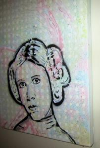 Detail Image for art Princess Leia Original Pop Graffiti Art