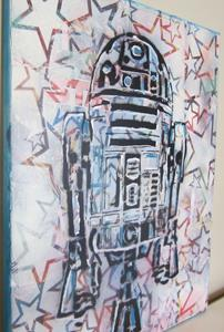 Detail Image for art Star R2D2 Original Pop Graffiti Art