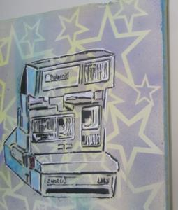 Detail Image for art 80's Polaroid cam Retro Original Graffiti Spray Paint Pop Art
