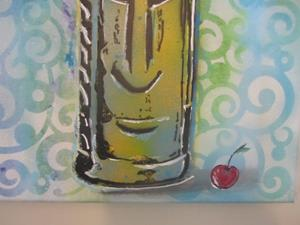 Detail Image for art Retro Tiki with Cherry Original Graffiti Spray Paint Pop Art