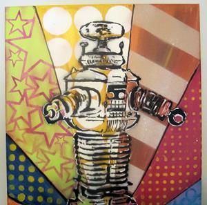 Detail Image for art Graffiti Pop Art Robbie the Robot
