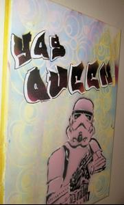 Detail Image for art Graffiti Pop Art Gay Stormtrooper Yas Queen