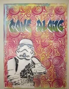 Detail Image for art Original Graffiti Pop Art Star Wars Stormtrooper