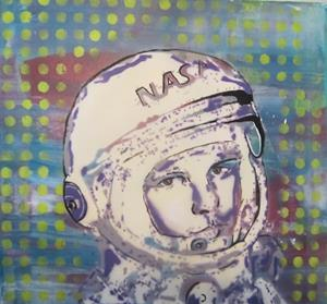 Detail Image for art NASA Spaceman Original Pop Graffiti Art 16