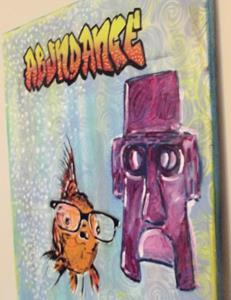 Detail Image for art Hipster Goldfish Pop Art Graffiti Original