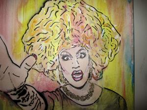 Detail Image for art Drag Queen Jackie Beat Graffiti Pop Art