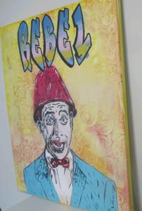 Detail Image for art Pee Wee Herman Lamp Shade Original Graffiti