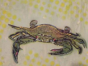 Detail Image for art Original Neon Crab Graffiti Pop Art