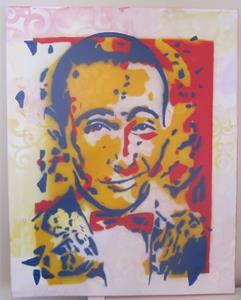 Detail Image for art Pee Wee Herman Confetti Original Graffiti Pop Art
