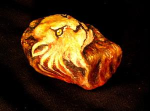 Detail Image for art Lion Painted Rock