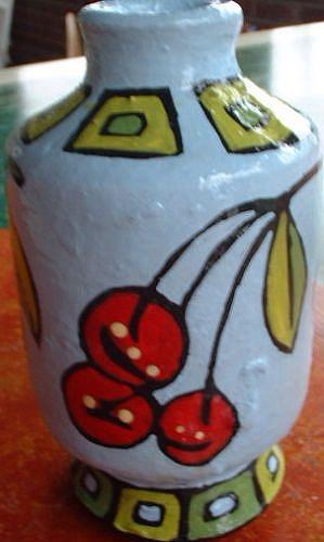 Art: Cherry Vase by Artist Lauren K Blair