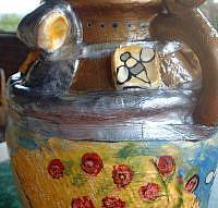 Art: Queen Bee Vase by Artist Lauren K Blair