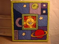 Art: Space Book (blank) by Artist Lauren K Blair