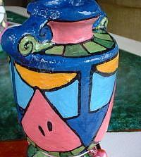 Art: Melon Mini Diva Vase by Artist Lauren K Blair